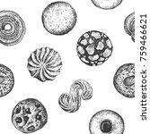 cookies seamless pattern...   Shutterstock .eps vector #759466621