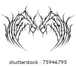 vector tattoo wings