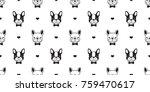 dog french bulldog heart love... | Shutterstock .eps vector #759470617