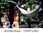 statue of characters in jataka... | Shutterstock . vector #759471301