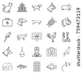 treat the animal icons set.... | Shutterstock .eps vector #759473119