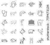 animal care icons set. outline... | Shutterstock .eps vector #759473134