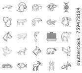 animal care icons set. outline... | Shutterstock .eps vector #759473134