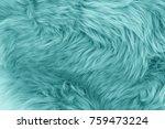 Turquoise Blue Sheepskin Rug...
