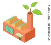 factory icon. isometric... | Shutterstock .eps vector #759474049