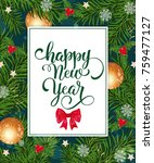 happy new year card with... | Shutterstock .eps vector #759477127