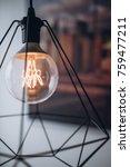close up modern tungsten lamp.... | Shutterstock . vector #759477211