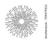 sunburst   light line  sun... | Shutterstock .eps vector #759479311
