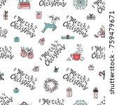 merry christmas. holiday vector ... | Shutterstock .eps vector #759479671