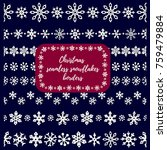 christmass snowflakes seamless... | Shutterstock .eps vector #759479884