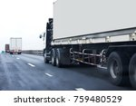 truck on highway road with... | Shutterstock . vector #759480529