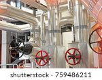 equipment  cables and piping as ... | Shutterstock . vector #759486211