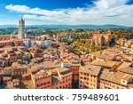 scenery of siena  a beautiful... | Shutterstock . vector #759489601