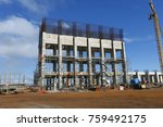 industrial building  foundation ... | Shutterstock . vector #759492175