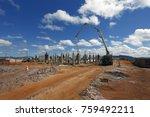 industrial building  foundation ... | Shutterstock . vector #759492211
