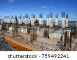 industrial building  foundation ... | Shutterstock . vector #759492241