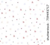 seamless pattern with small... | Shutterstock .eps vector #759493717