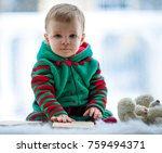 little boy in red and green...   Shutterstock . vector #759494371