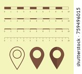 map scales graphics for... | Shutterstock .eps vector #759496015