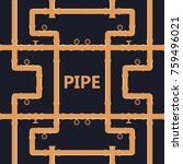 pipe fittings vector icons set. ... | Shutterstock .eps vector #759496021
