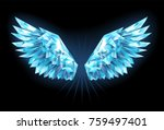 polygonal  sparkling wings of... | Shutterstock .eps vector #759497401