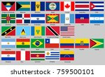flags of north and south... | Shutterstock .eps vector #759500101