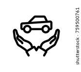 car  hand  hold  insurance ... | Shutterstock .eps vector #759500761