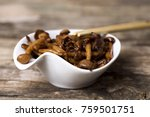 a white ceramic bowl with... | Shutterstock . vector #759501751