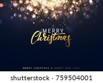 christmas background with... | Shutterstock .eps vector #759504001