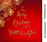 christmas and new year... | Shutterstock .eps vector #759506155