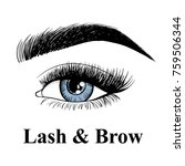 beauty lash and brow studio... | Shutterstock .eps vector #759506344