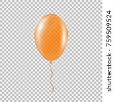 transparent orange helium... | Shutterstock .eps vector #759509524