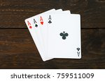 play casino card games on the... | Shutterstock . vector #759511009