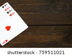 play casino card games on the... | Shutterstock . vector #759511021
