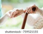 Elder Person Using Wooden...