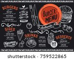 burger food menu for restaurant ... | Shutterstock .eps vector #759522865