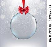 xmas ball with bokeh  | Shutterstock . vector #759523741