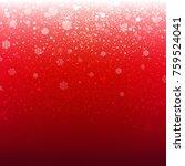 christmas red banner  | Shutterstock . vector #759524041
