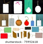 Big Set Of Paper Gift Tags