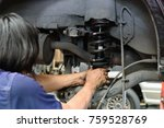 technicians are changing car... | Shutterstock . vector #759528769