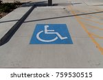 handicapped symbol painted on a ... | Shutterstock . vector #759530515