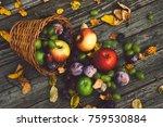 healthy mixed fruit mix | Shutterstock . vector #759530884