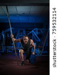 young male athlete bodybuilder... | Shutterstock . vector #759532114