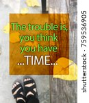 inspirational quote on blurred... | Shutterstock . vector #759536905