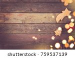 table top shot of come fir...   Shutterstock . vector #759537139