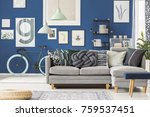 hipster apartment with bicycle  ... | Shutterstock . vector #759537451