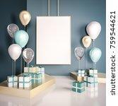 interior mock up scene with... | Shutterstock . vector #759544621