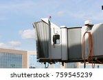 airport boarding bridge. jetway ... | Shutterstock . vector #759545239