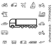waggon. linear transport icon... | Shutterstock .eps vector #759546001