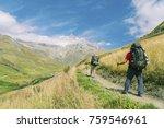 the tour du mont blanc is a... | Shutterstock . vector #759546961